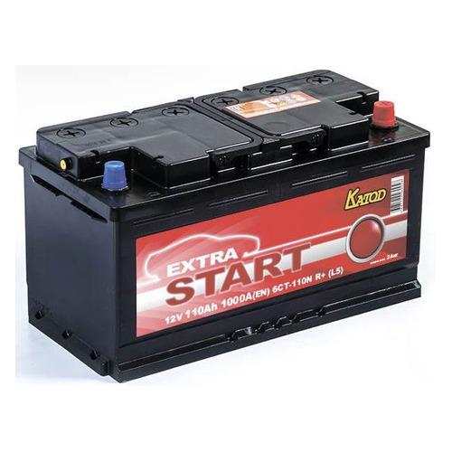 Аккумулятор автомобильный КАТОД EXTRA START Extra Start 110Ач 1000A [6ст-110n r+ (l5)]