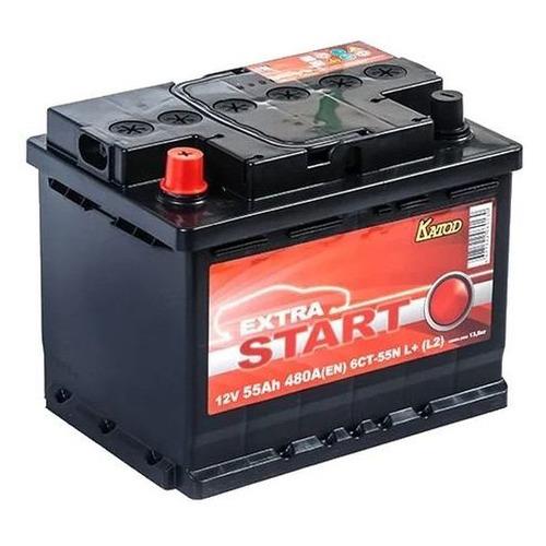 Аккумулятор автомобильный КАТОД EXTRA START Extra Start 55Ач 480A [6ст-55n l+ (l2)]