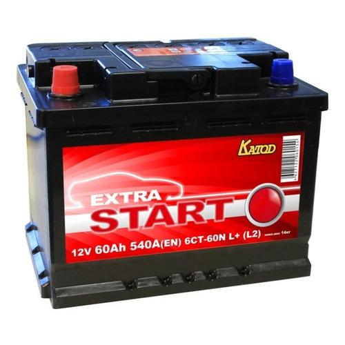 Аккумулятор автомобильный КАТОД EXTRA START Extra Start 60Ач 540A [6ст-60n l+ (l2)]
