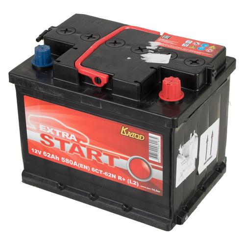 Аккумулятор автомобильный КАТОД EXTRA START Extra Start 62Ач 580A [6ст-62n r+ (l2)]