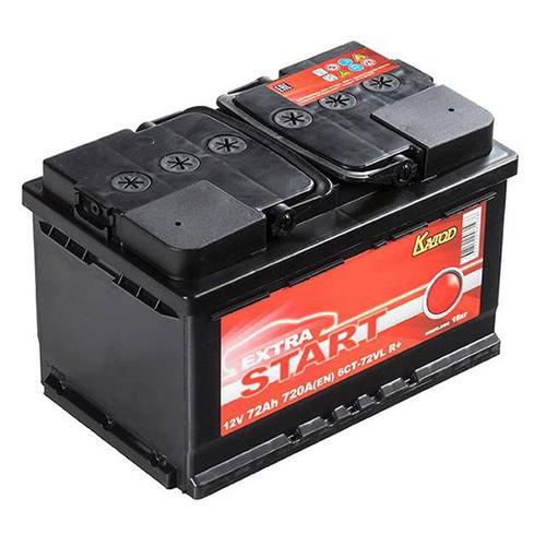 Аккумулятор автомобильный КАТОД EXTRA START Extra Start 72Ач 720A [6ст-72vl r+ (lb3)]