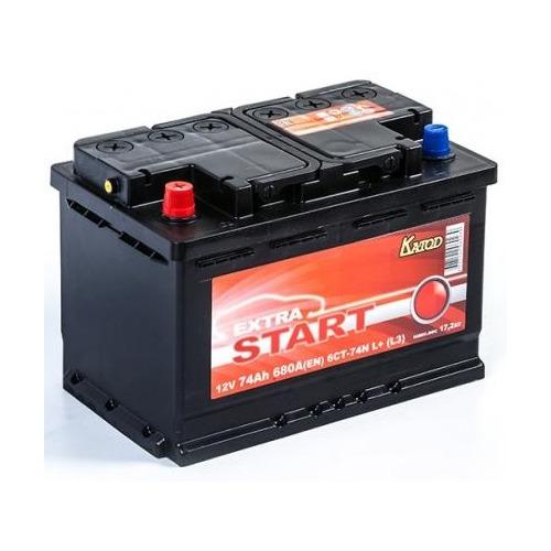 Аккумулятор автомобильный КАТОД EXTRA START Extra Start 74Ач 680A [6ст-74n l+ (l3)]