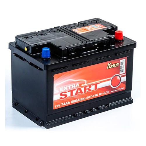Аккумулятор автомобильный КАТОД EXTRA START Extra Start 74Ач 680A [6ст-74n r+ (l3)]