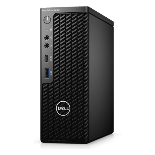 Рабочая станция DELL Precision 3240, Intel Core i7 10700, DDR4 8ГБ, 256ГБ(SSD), NVIDIA Quadro P620 - 2048 Мб, Windows 10 Professional, черный [3240-5221] рабочая станция lenovo thinkstation p330 intel core i7 9700 ddr4 16гб 1000гб 256гб ssd nvidia quadro p620 2048 мб dvd rw cr windows 10 professional черный [30d10029ru]