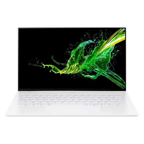 Ноутбуки, Ультрабук ACER Swift 7 SF714-52T-73BF, 14 , IPS, Intel Core i7 8500Y 1.5ГГц, 16ГБ, 512ГБ SSD, Intel UHD Graphics 615, Windows 10 Professional, NX.HB4ER.004, белый  - купить со скидкой