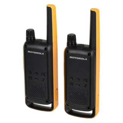 Комплект раций Motorola Talkabout Т82ЕХТ RSM 16кан. до 10км компл.:2шт AA черный/оранжевый (MT193)