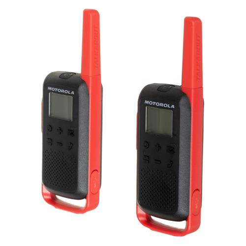 Комплект раций Motorola Talkabout Т62 16кан. до 8км компл.:2шт AA красный/черный (MT195)
