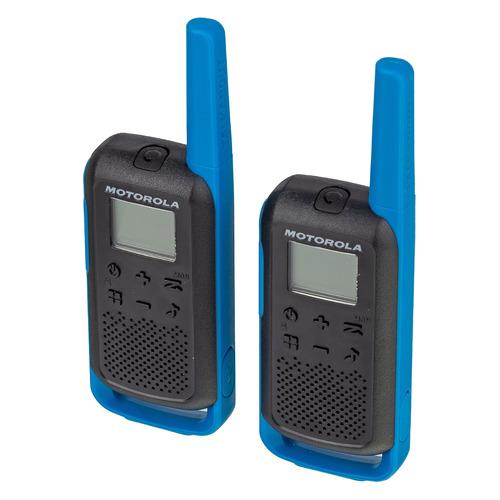 Комплект раций Motorola Talkabout Т62 BLUE 16кан. до 8км компл.:2шт AA синий/черный (MT200)