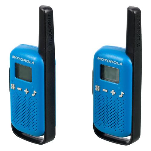 Комплект раций Motorola Talkabout Т42 16кан. до 4км компл.:2шт AAA синий/черный (MT198)