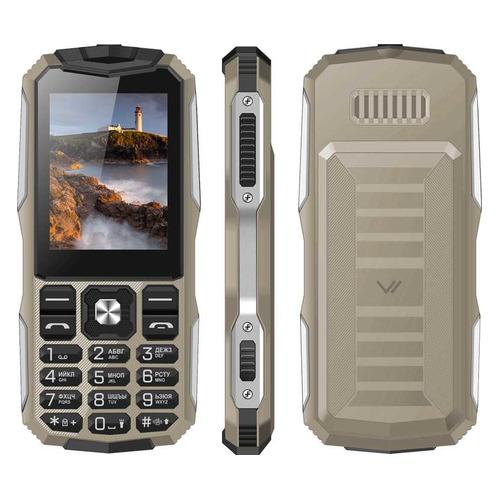 Мобильный телефон VERTEX K213 песочный/серебристый