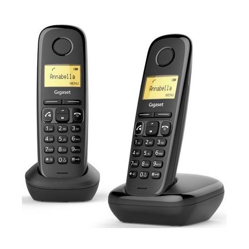 Радиотелефон GIGASET A270 DUO RUS, черный [l36852-h2812-s301]