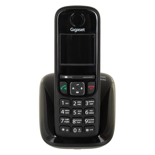 Фото - Радиотелефон GIGASET AS690 RUS SYS, черный [s30852-h2816-s301] радиотелефон gigaset as690 black