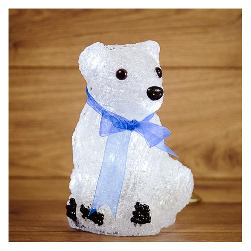 Фигура Neon-Night Home Белый мишка фор.:медвежонок 20лам. акрил (513-247) фигура neon night home олененок в шарфе фор олененок 24лам акрил 513 314