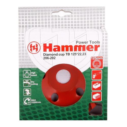 Чашка HAMMER Flex 206-202 CUP TB, по бетону, 125мм, 22.2мм [30701]