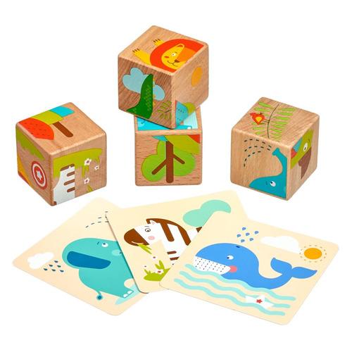 Кубики LUCY&LEO Дикие животные [ll259]