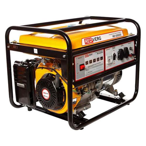 Бензиновый генератор REDVERG RD-G5500, 220, 5.5кВт электрогенератор redverg rd g5500
