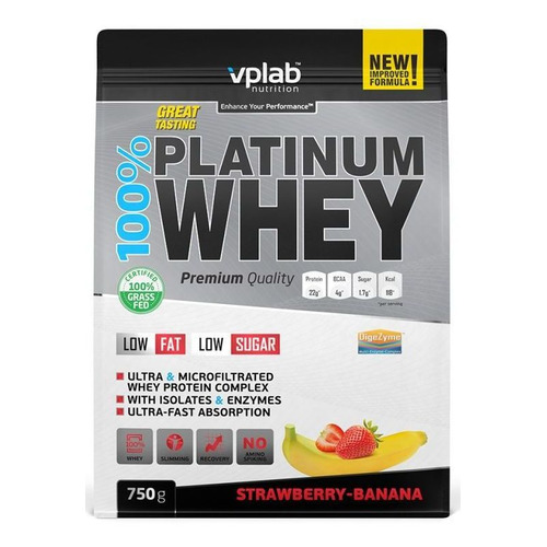 Фото - Протеин VPLAB Platinum Whey, порошок, 750гр, клубника-банан [vp53981] протеин