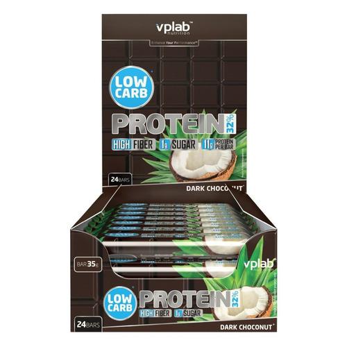 Набор батончиков протеин. Vplab Low Carb Protein Bar бат. 24х35гр темный шоколад (упак.:24шт) (VP557