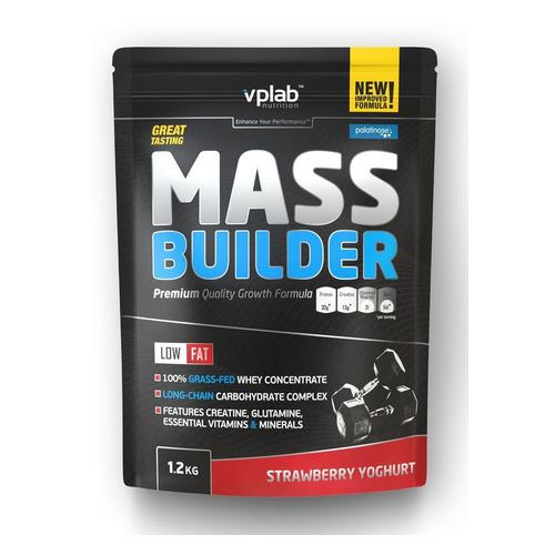 Гейнер VPLAB Mass Builder, порошок, 1.2кг, клубничный йогурт [vp55084]