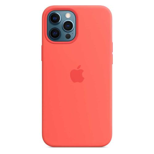 Чехол (клип-кейс) APPLE Silicone Case with MagSafe, для Apple iPhone 12 Pro Max, розовый цитрус [mhl93ze/a] чехол apple silicone case with magsafe для iphone 12 12 pro розовый цитрус