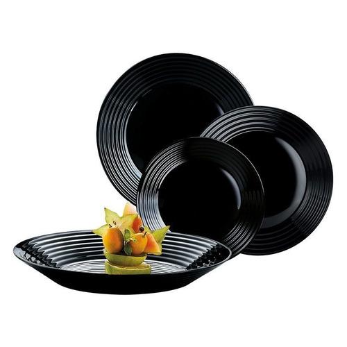 Фото - Сервиз столовый LUMINARC Harena L3270, 18 предметов, черный сервиз столовый luminarc harena 19 предметов 6 персон