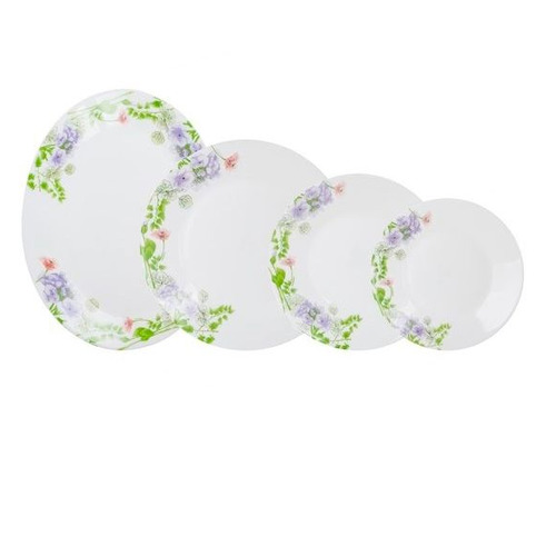 Сервиз столовый LUMINARC Essence Mabelle, 19 предметов, белый [n2087] luminarc тарелка десертная latone 22 см белый