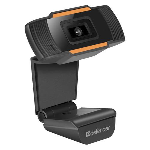 Фото - Web-камера DEFENDER G-Lens 2579, черный и оранжевый [63179] вэб камера defender g lens 2597 hd720p 2 мп автофокус слеж за лицом