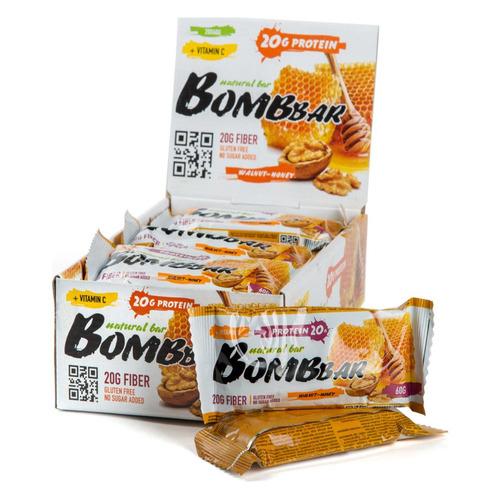 Набор батончиков протеин. Bombbar Natural Bar бат. 20х60гр грецкие орехи/мед (упак.:20шт)