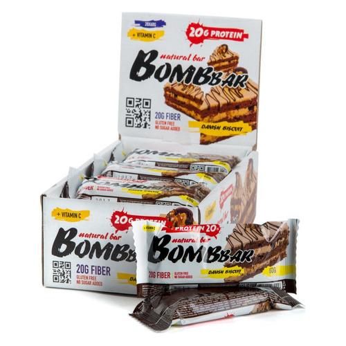 Набор батончиков протеин. Bombbar Natural Bar бат. 20х60гр датский бисквит (упак.:20шт)