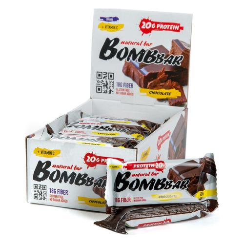 Набор батончиков протеин. Bombbar Natural Bar бат. 20х60гр двойной шоколад (упак.:20шт)