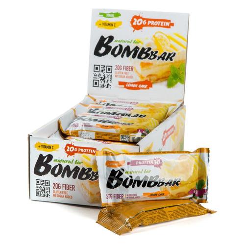 Набор батончиков протеин. Bombbar Natural Bar бат. 20х60гр лимонный торт (упак.:20шт)