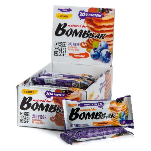 Набор батончиков протеин. Bombbar Natural Bar бат. 20х60гр смородиново-черничный панкейк (упак.:20шт