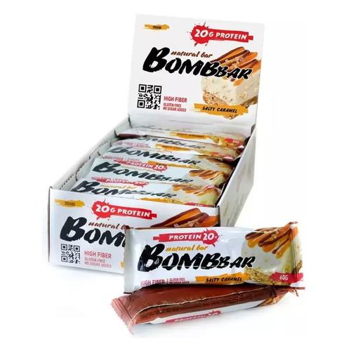 Набор батончиков протеин. Bombbar Natural Bar бат. 20х60гр солёная карамель