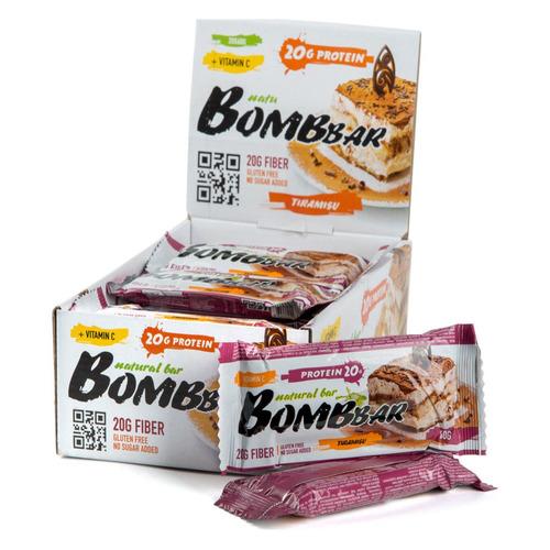 Набор батончиков протеин. Bombbar Natural Bar бат. 20х60гр тирамису (упак.:20шт)