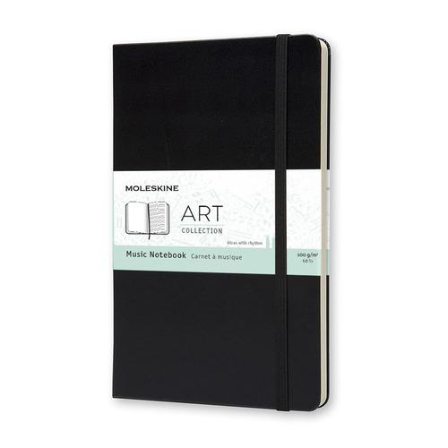 Блокнот MOLESKINE Art, 192стр, твердая обложка, черный [artqp081]