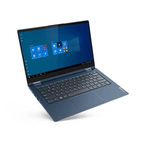 "Ноутбук-трансформер Lenovo Thinkbook 14s Yoga ITL, 14"", IPS, Intel Core i7 1165G7 2.8ГГц, 16ГБ, 1ТБ SSD, Intel Iris Xe graphics , Windows 10 Professional, 20WE0022RU, синий"