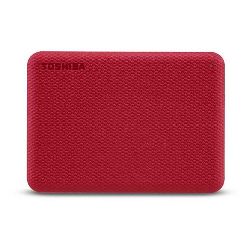 Фото - Внешний диск HDD TOSHIBA Canvio Advance HDTCA10ER3AA, 1ТБ, красный toshiba canvio slim usb 3 0 1тб hdtd310ek3da черный