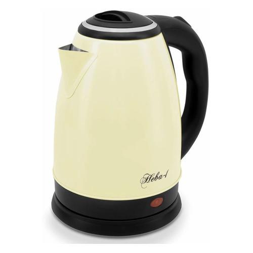 Чайник электрический ВЕЛИКИЕ РЕКИ Нева-1, 1500Вт, желтый чайник электрический великие реки нева 2 1 8л 2000вт белый корпус нержавеющая сталь