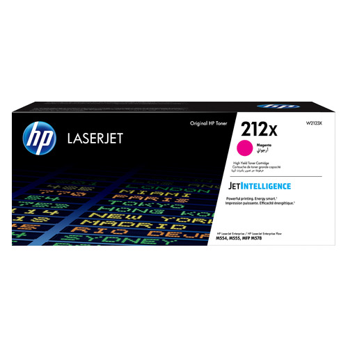 Картридж HP 212X, пурпурный / W2123X