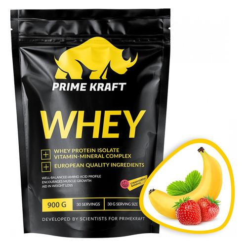 Протеин PRIME KRAFT Whey, порошок, 900гр, клубника-банан [яб026573]