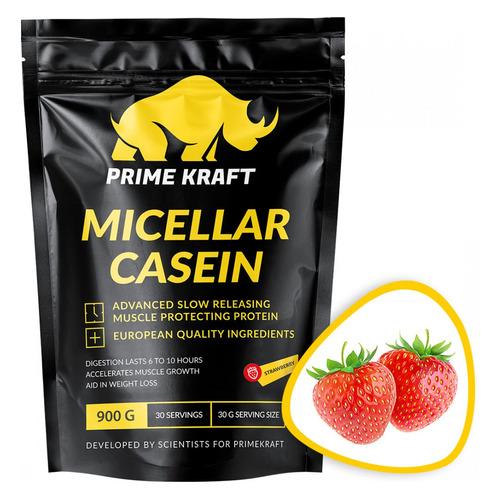 Протеин PRIME KRAFT Micellar Casein, порошок, 900гр, клубника [яб026575]