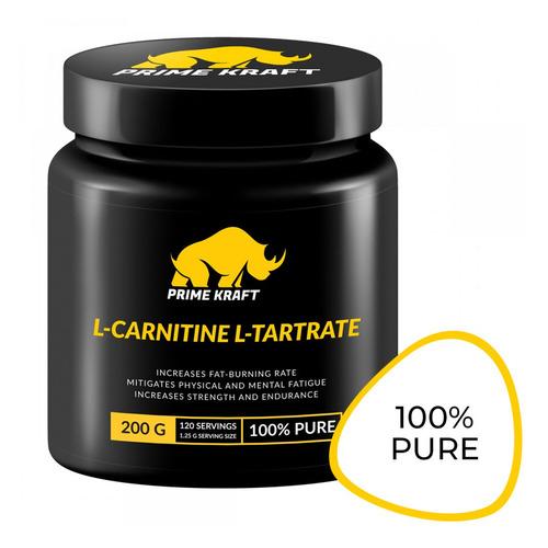 L-карнитин PRIME KRAFT L-Carnitine L-Tartrate, порошок, 200гр, нейтральный [яб027787]