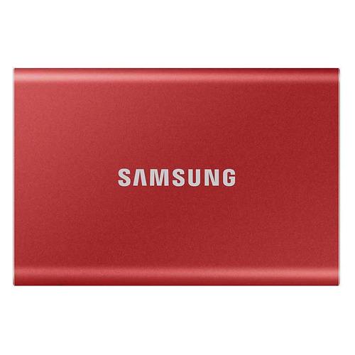 Фото - Внешний диск SSD Samsung T7 MU-PC500R/WW, 500ГБ, красный samsung t5 1tb mu pa1t0r ww красный