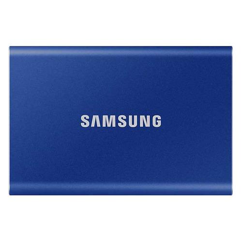 Фото - Внешний диск SSD SAMSUNG T7 MU-PC500H/WW, 500ГБ, синий внешний диск ssd samsung t7 touch mu pc2t0s ww 2тб серый
