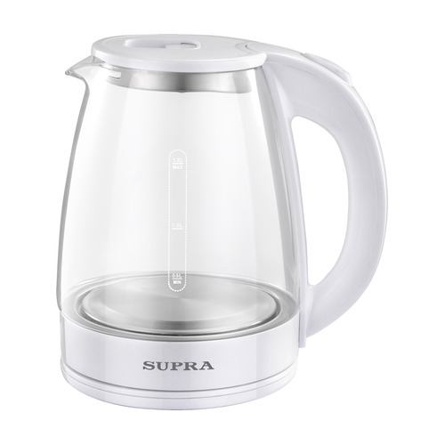 Фото - Чайник электрический SUPRA KES-1891, 1500Вт, белый чайник электрический supra kes 1893 1500вт белый