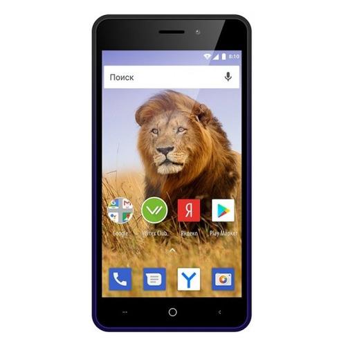 Фото - Смартфон VERTEX Impress Lion 3G Dual Cam 8Gb, синий zgpax s8 smart watch phone 512mb 4gb built in 8gb tf card android 4 4 2 mtk6572 dual core 1 2ghz wifi bluetooth gps network 3g black