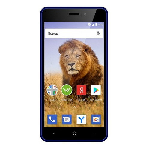 Смартфон Vertex Impress Lion 3G Dual Cam 8Gb, сапфир смартфон vertex impress luck nfc lte black