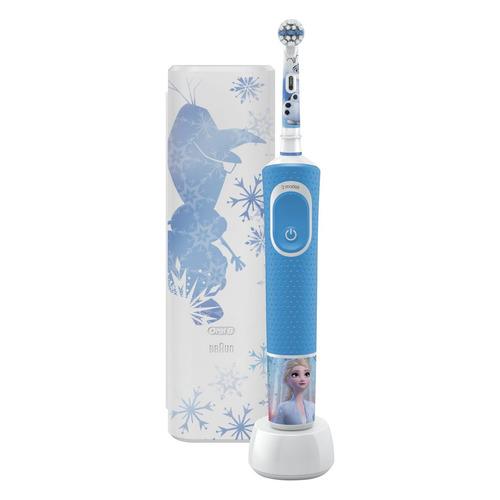 Электрическая зубная щетка ORAL-B Frozen D100.413.2KX, цвет: голубой [80337082]