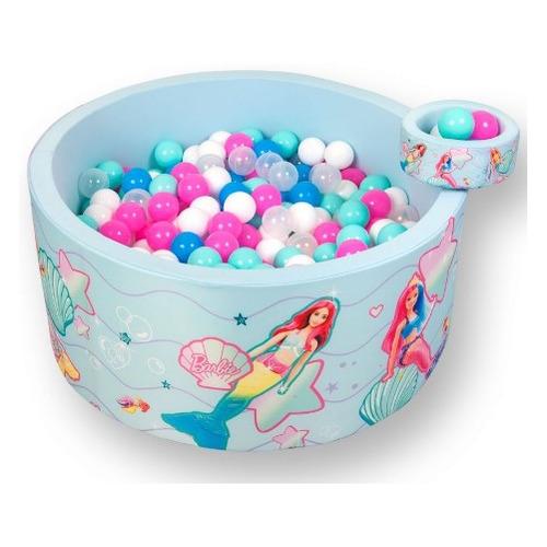 Сухой бассейн Hotenok Barbie Подводная сказка шар.:200шт голубой (SBH412_BB)