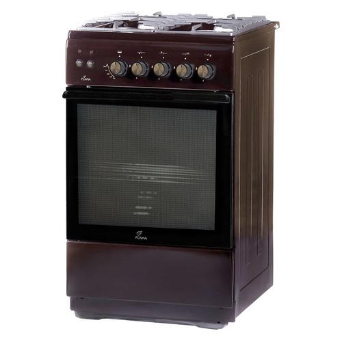 Газовая плита FLAMA FG 24230 B, газовая духовка, без крышки, коричневый